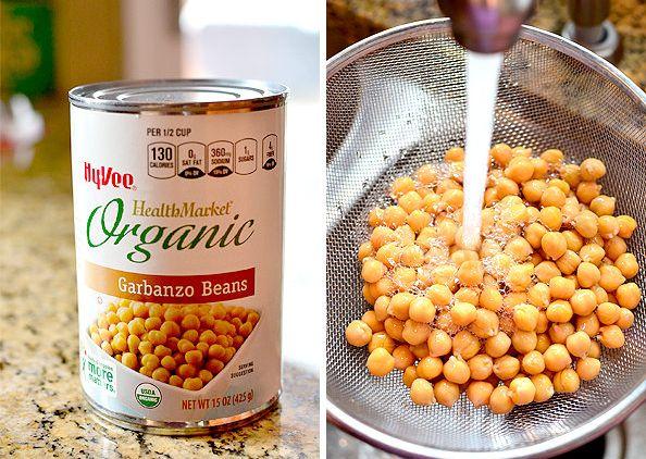 Chicken Power Bowls with Crispy Baked Garbanzo Beans #salad #copycat   iowagirleats.com