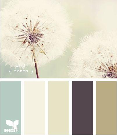 Tableau des couleurs - Inspiration pissenlit