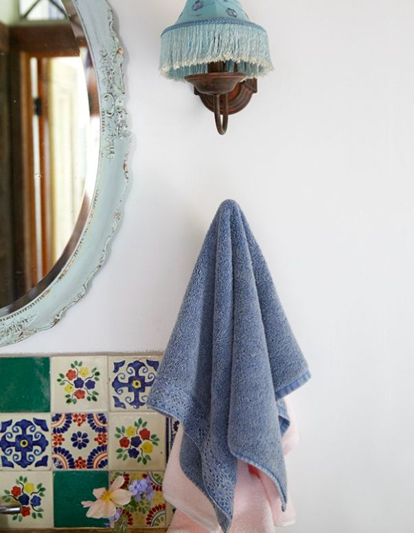 Delicately detailed yet well-suited for everyday enjoyment, Rachel Ashwell's Annabelle Crochet Towels are a beauty to behold. Stonewashed to lend a casual elegance, these all-cotton towels boast a terry texture for beyond-ample softness and absorbency, and each towel is notably graced with a beautiful crocheted trim along the far hem. #rachelashwell