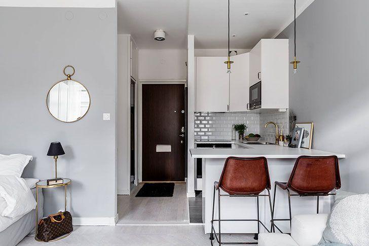Compact Studio Apartment In Stockholm 26 Sqm Pufik Beautiful Interiors Online Mag Plans Petits Appartement Amenagement Petit Appartement Idee Deco Studio