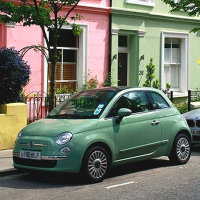 I love the pastel colours available for the Fiat 500. My favourites are the minty green and the baby blue.