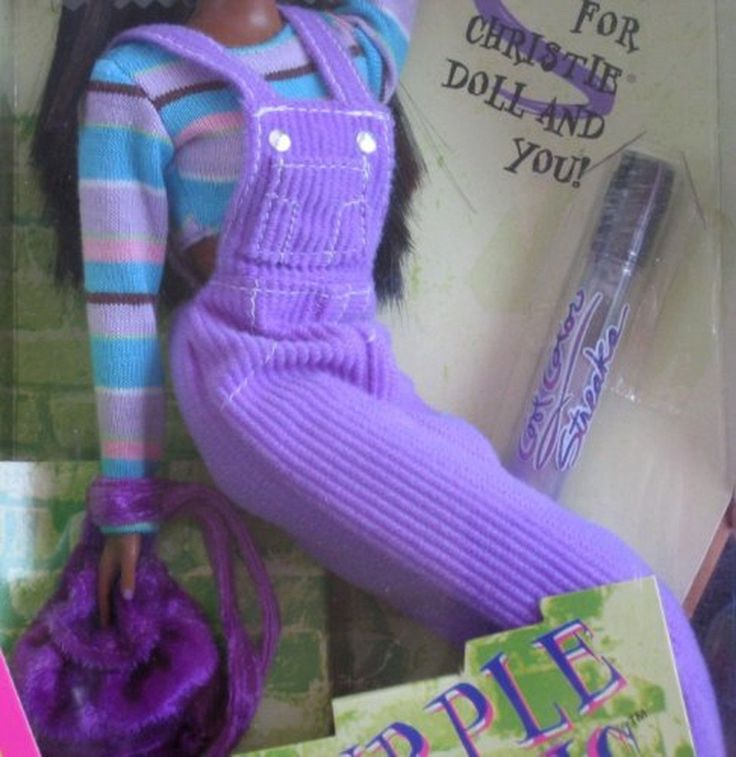1997 Purple Panic Christie Barbie, MIB NRFB - 19667 Cool Colors Thumb Ring Jewelry Painted Nails Nail Polish