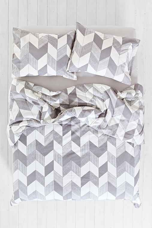 Assembly Home Adele Chevron Duvet Cover || Urban Outfitters || $59 - twin XL || Comes in blue (not gray)