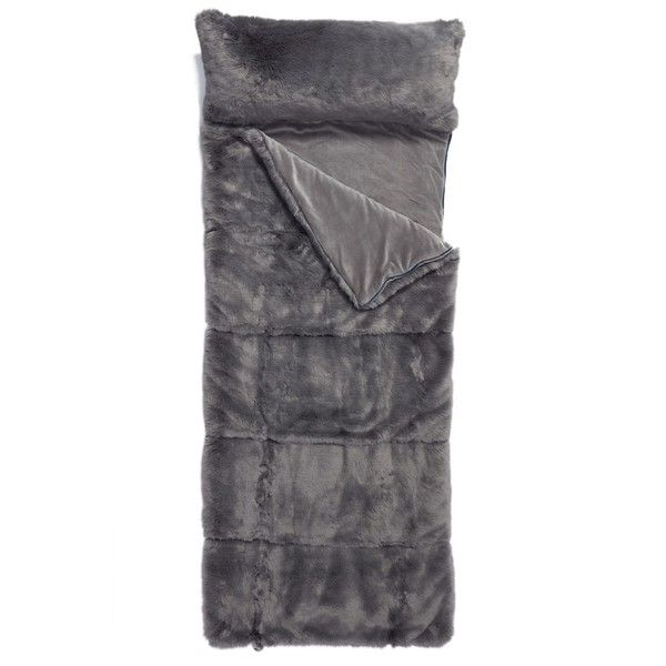 51881bbeae Nordstrom At Home Cuddle Up Faux Fur Sleeping Bag ( 199) ❤ liked on Polyvore