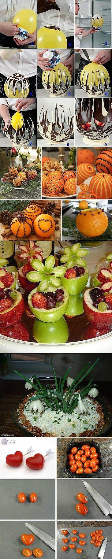 Креатив на кухне: интересные идеи для оформления блюд, салатов и бутербродов   Домохозяйка   Карвинг   Постила