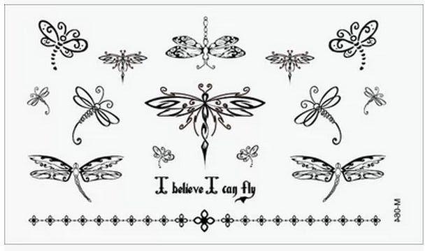 (Минимальный заказ $0.5) временные Татуировки Для Мужчина Женщина Водонепроницаемый Наклейки макияж maquiagem составляют I believe I can fly Татуировки WM024