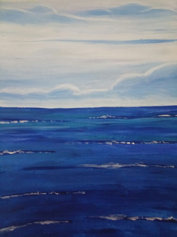 Cloudy Sea painting