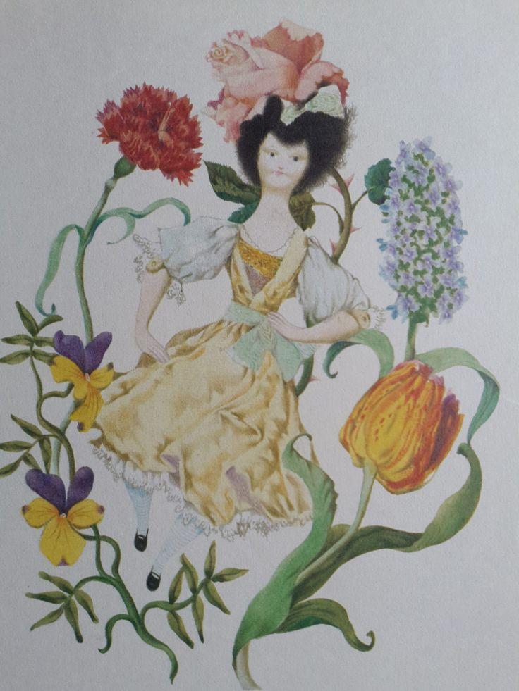"Vintage Jiri Trnka Little Ida's Flowers Nursery Children's Print Wall Art Andersen Fairy Tales Doll 8"" x 11"" by ClaritaVintage on Etsy"