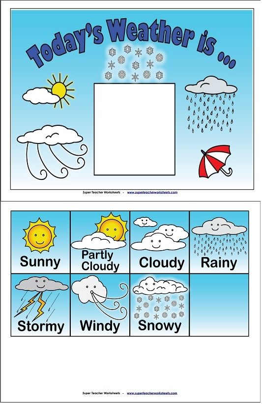 Kindergarten Calendar S S : What s today weather a fun activity to do with your