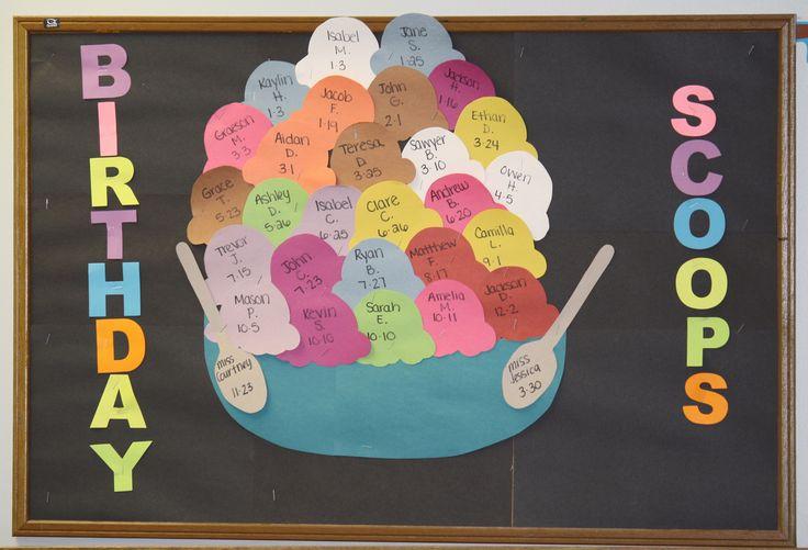 Birthday board in Pre-K!
