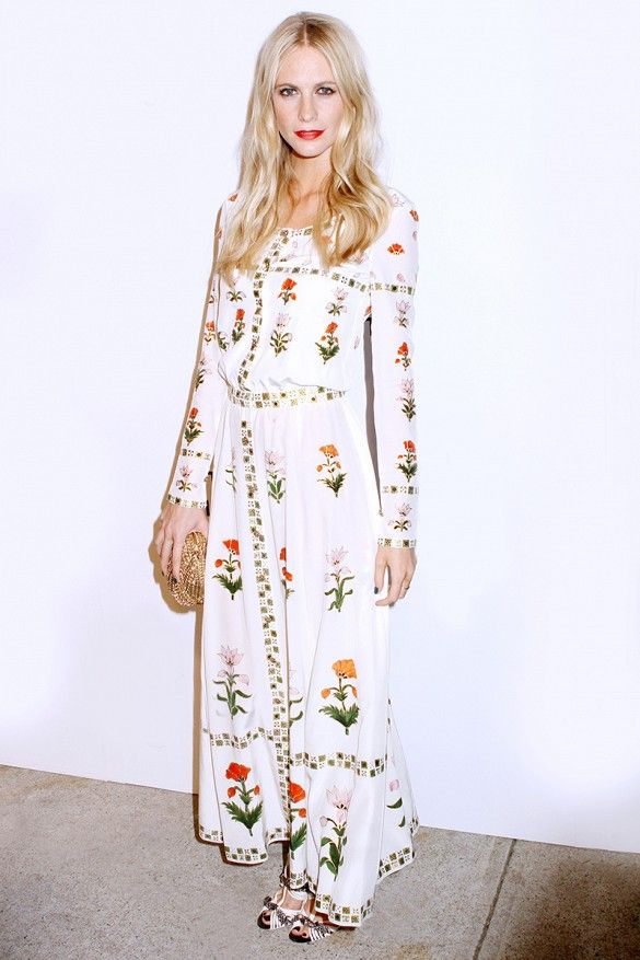 Poppy Delevingne's floor-length floor is the perfect amount of soft and feminine. // #CelebrityStyle #SummerStyle #Tips