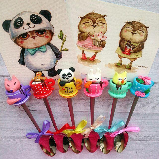 Новая партия скоро приедет на #openspacemarket   ________________________ Все ложечки здесь ➡ #lerasandrovna_crafts #spoon #kitchen #cucina #kitchenwear #handmade #polymerclay #worldbestideas #icecream #cake #cupcakes #вкусныеложечки #ложечки #праздник #дети #торт #подарки #свадьба #идеи #мороженое #ручнаяработа #Казань #рукоделие #творчество #полимернаяглина #фигурки #лепнина
