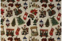 Vánoční dekorační látka s digitálním potiskem 1086/015