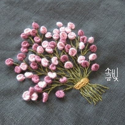 embroidery...