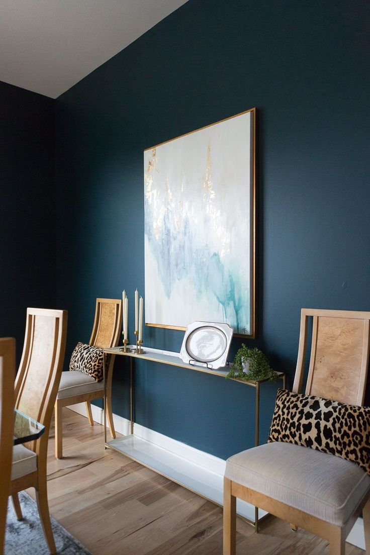 Top 3 Blue Green Paint Colors For Dark And Dramatic Walls Dark Blue Paint Color Blue Painted Walls Blue Accent Walls