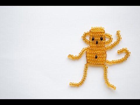 Игрушки из бисера. Плетение Обезьянки.