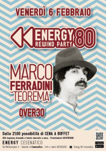 Marco Ferradini live @ Energy 80 Over 30 http://www.nottiromagnole.it/?p=13985
