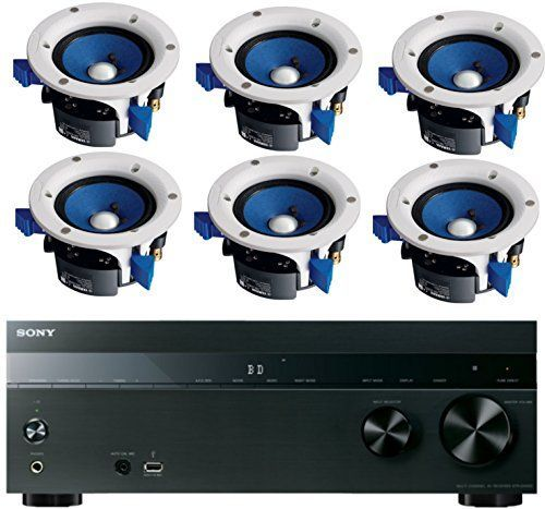 Introducing Sony 52Channel 725Watt 4K AV Home Theater Receiver  Yamaha HighPerformance Moisture Resistant 2Way 90 watts Surround Sound inceiling Speaker System Set Of 6. Great product and follow us for more updates!