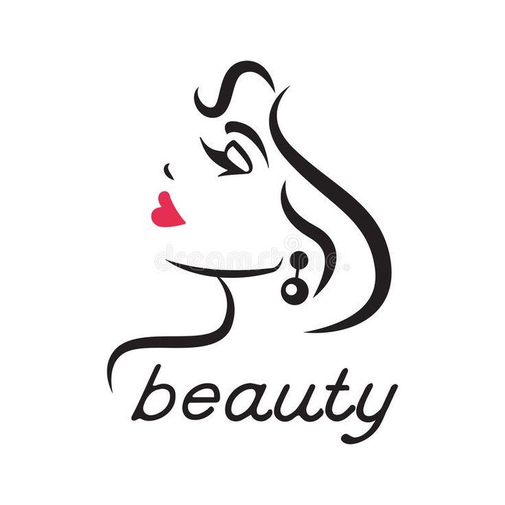 Блестящий логотип для салона красоты Иллюстрация вектора - изображение: 75950527