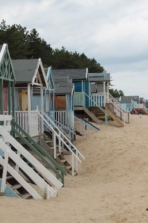 beach bungalows! So cute! I want one! :)