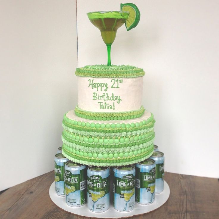 Margarita 21st Birthday Cake #thecreaterie but in pink