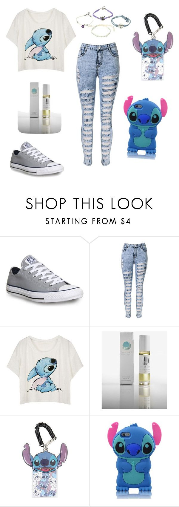 """""""Lilo & Stitch"""" by abrooke2012 on Polyvore featuring Converse, OneSelf, Disney, women's clothing, women, female, woman, misses and juniors"""