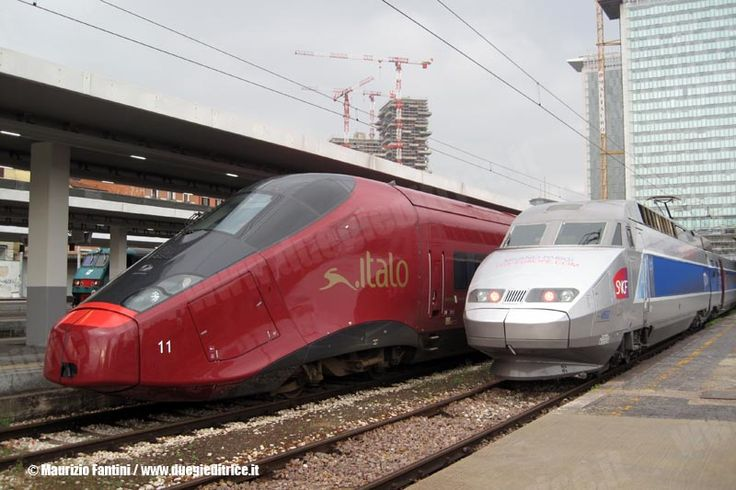 Alstom tgv to from paris and alstom agv to from turin - Milano porta garibaldi station ...