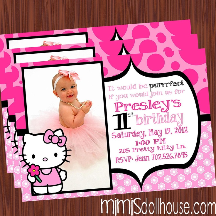 Hello Kitty Invitation-Hello Kitty Birthday Invitation PDF