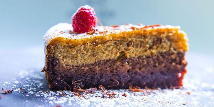 Ostekake med brownie, peanøtt og sjokolade - Dette er en ostekake som du baker i ovnen.