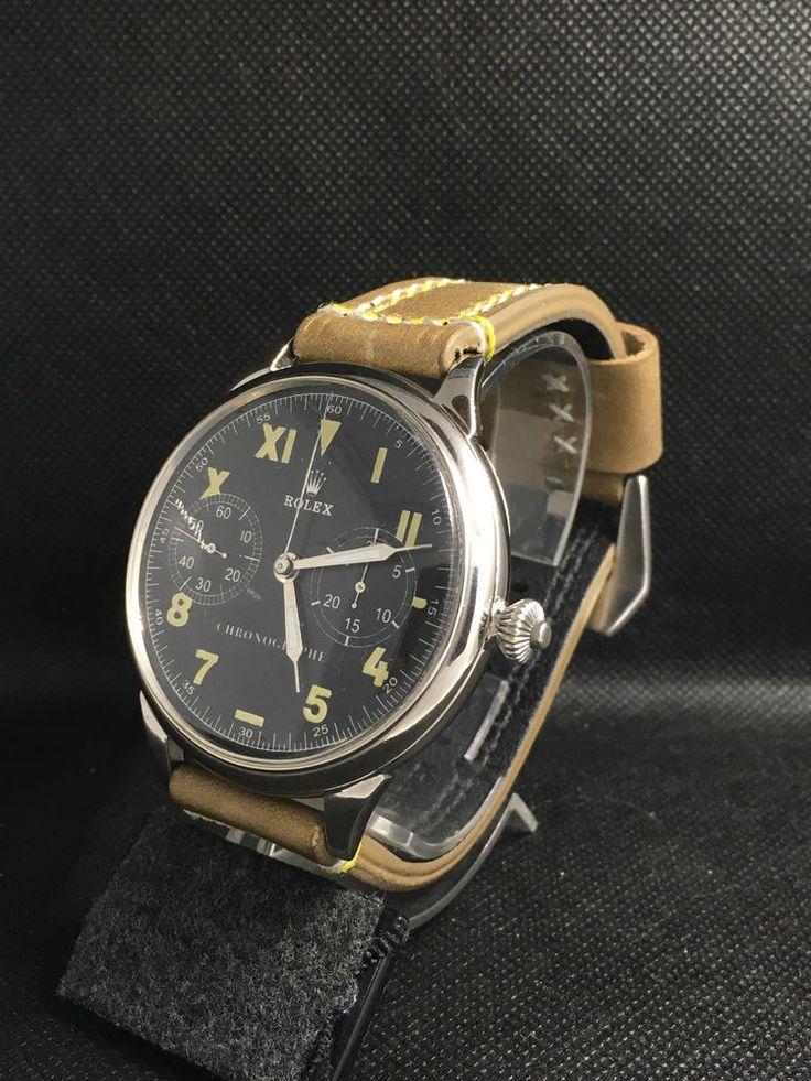 ROLEX CHRONOGRAPH SWISS  40's Vintage MILITARY Watch Original Mov  Pocket Watch #Rolex #Casual