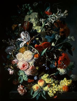 Jan van Huysum, Still Life with Flowers and Fruit, c. 1715   National Gallery of Art
