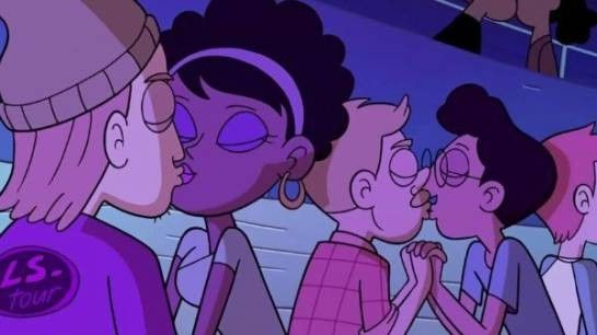 The Walt Disney Company vuelve a mostrar su interés por la inclusión al ser la primera en mostrar besos entre parejas del mismo sexo en una serie de animación, después de haber sido la primera en mostrar a un pareja gay en una serie de animación y a una pareja de lesbianas en una serie de imagen real.