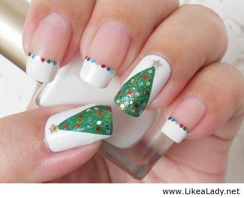 Christmas Tree Nails New Idea