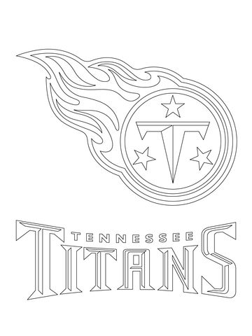 Tennessee Titans Logo Coloring Page From Nfl Category