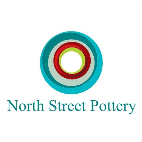 my logo for north street pottery it was created using vistaprint com i hope they give me some