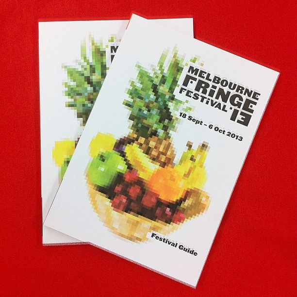 "@Melbourne Fringe's photo: ""G'morning #mfringe friends! We have some exciting news: Our Guides start hitting the streets today in advance of the official 2013 Program Launch! Stay tuned here for more updates when we launch the website and program tomorrow night. Till then, we're off to do a #tropical conga line dance! #melbournefringe #melbfringe #fruits #melbourne #festival #shows #arts #culture #newaesthetic #pixels #digital"""