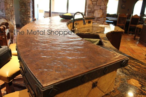 For the Future:  Hammered copper counter tops