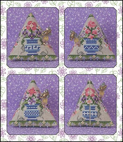 Just Nan - JN264 Porch Garden Mice Humbug • Counted Thread Cross Stitch Designs from Just Nan
