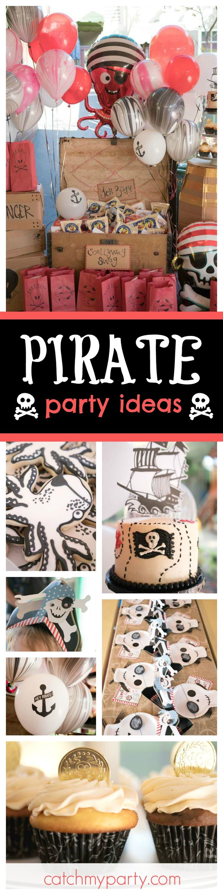 Ahoy Matey!! Jump aboard this fantastic Pirate party. The cookies are so cool! See more party ideas and share yours at CatchMyParty.com