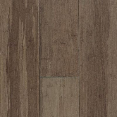 "Forest Valley Flooring Expressions 5-1/4"" Solid Bamboo Hardwood Flooring in River Rock & Reviews 