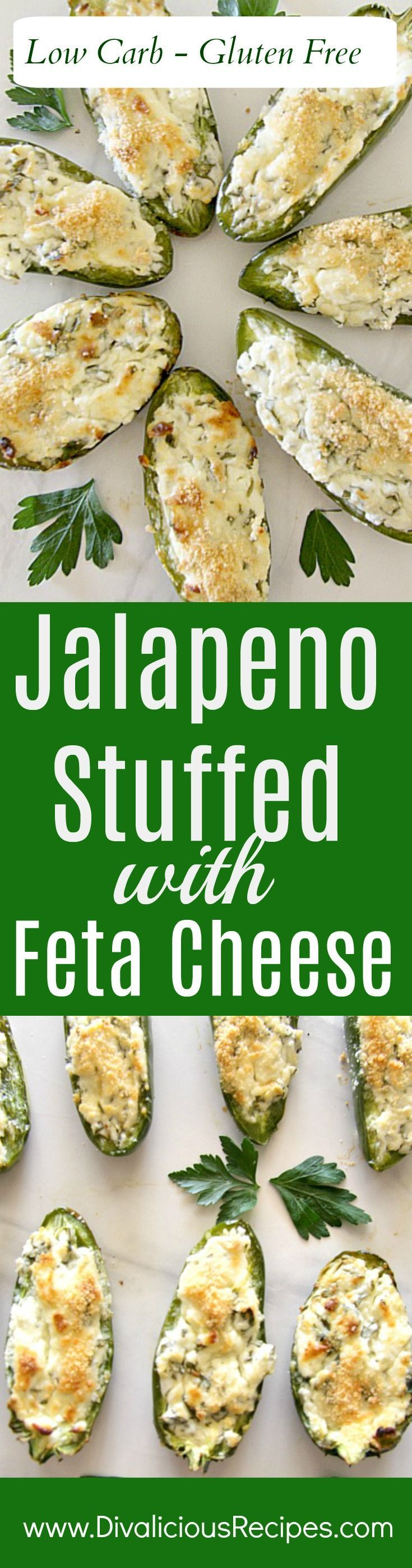 Jalapeno stuffed feta cheese makes a delicious alternative to jalapeno poppers as well as being low carb and gluten free.