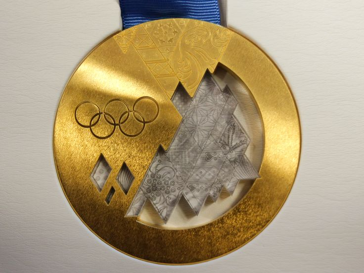 Check out the gold medal for the 2014 Games.