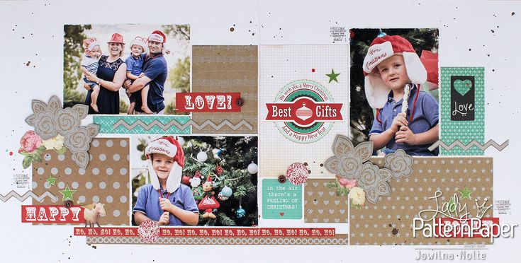 A Christmas layout was my first thought when I saw the beautiful sparkly stars Metallic Silver Kraft Essentials scrapbooking paper!