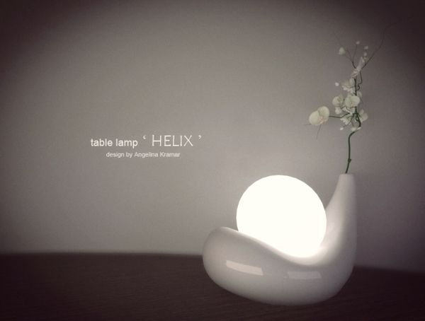 table lamp HELIX by Angelina Kramar, via Behance