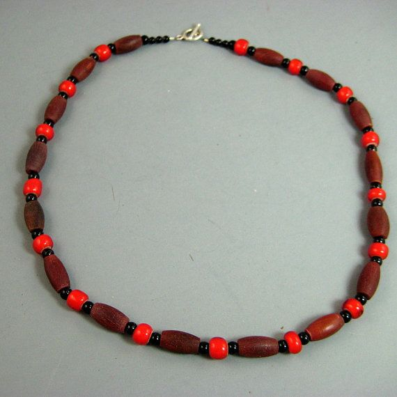 Horn Hairpipe and Red Trade Bead Choker by SiroccosTradingPost, $18.00