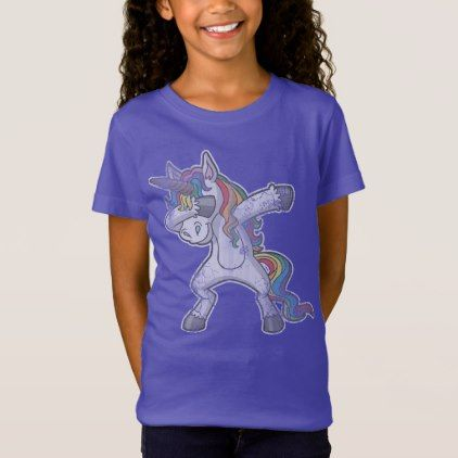 Cute Dabbing Unicorn T-Shirt - humor funny fun humour humorous gift idea