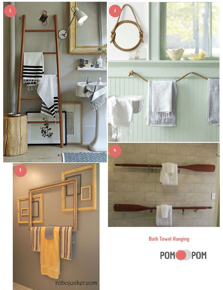 Bath Towel Hanging Ideas