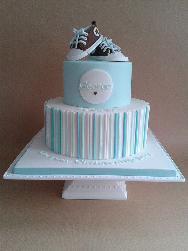 Christening cake - For all your Christening cake decorating supplies, please visit http://www.craftcompany.co.uk/occasions/new-baby-christening.html
