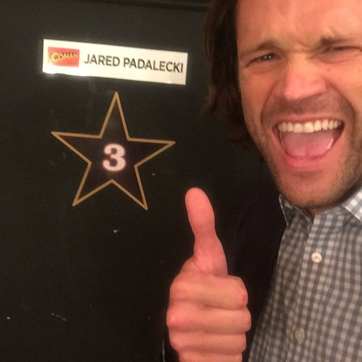 "Jared Padalecki (@jaredpadalecki) on Instagram: ""There are no words to adequately describe my excitement. Thank you @teamcoco for having us on your show. Truly a bucket list item! #spnfamily #akf"