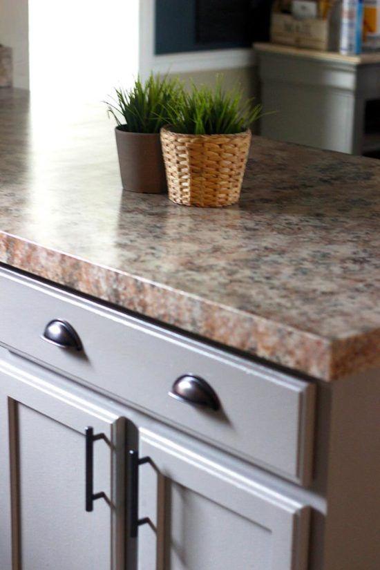 Diy Faux Granite Countertops In Just A Few Easy Steps Home Improvements Faux Granite Countertops Granite Kitchen Kitchen Countertops